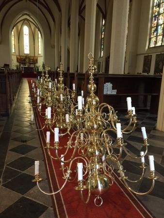 Delivery Of 4 Large Chandeliers For Antonius Abt Church Nijmegen